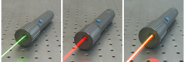 red flashlight-sized laser